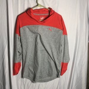 Puma Women's Long Sleeve Light Hoodie Size Large